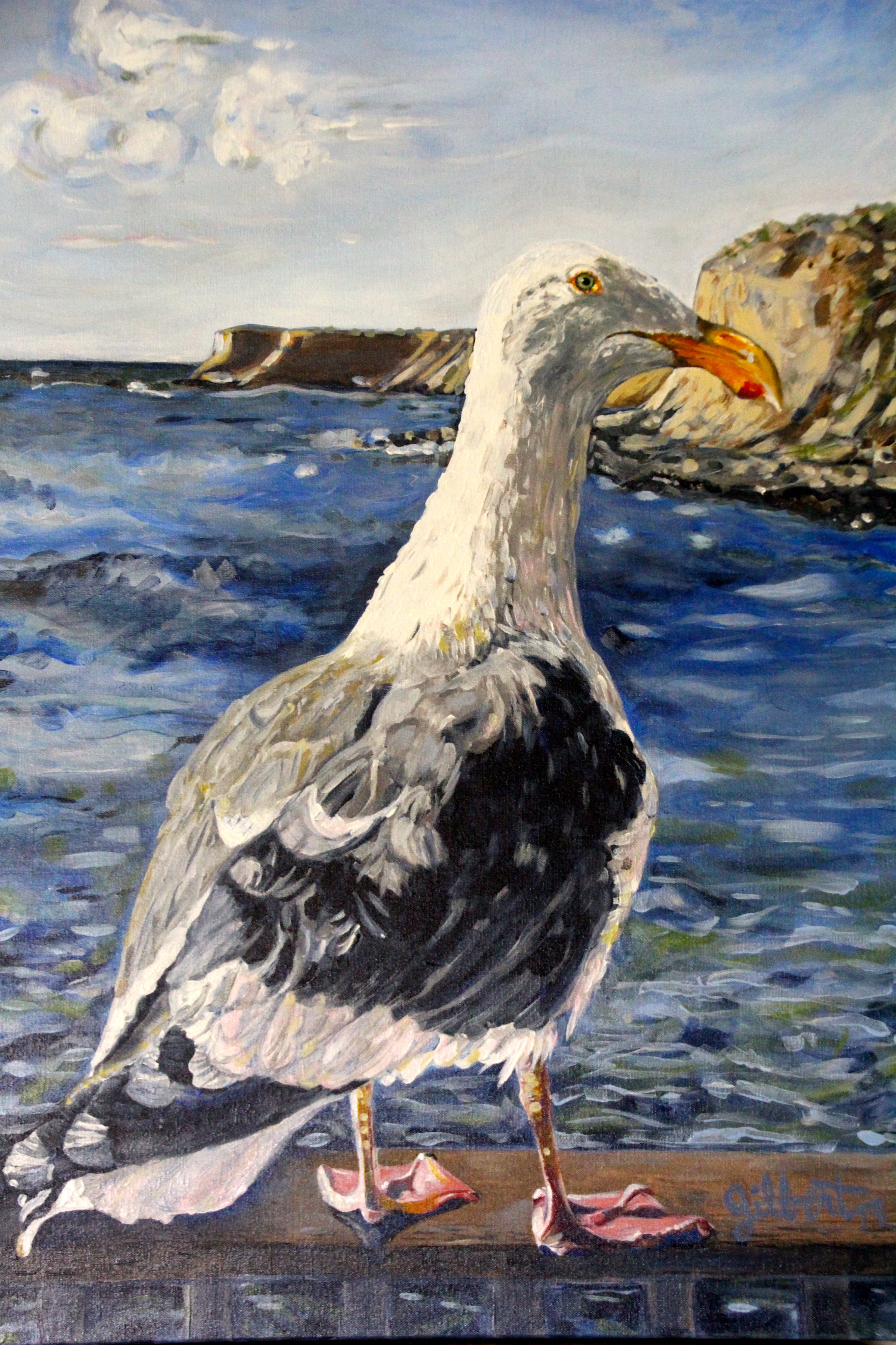 Sea Gull Hanging Out by Christine Gilbert-Thorburn